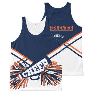Cheerleader -Orange & Navy Blue