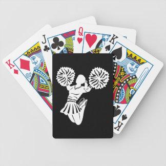 Cheerleader playing cards