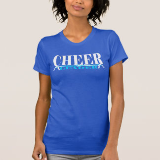 Cheerleader Practice Shirt in white and blue