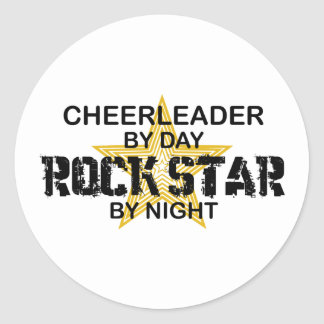 Cheerleader Rock Star by Night Classic Round Sticker