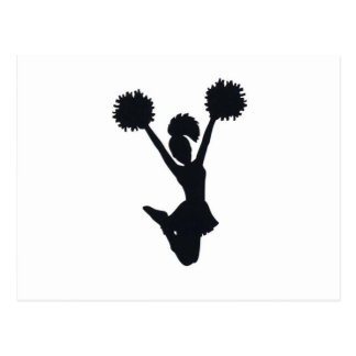 Cheerleader Silhouette Postcard