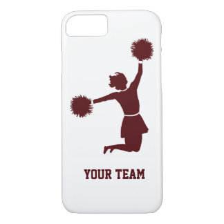 Cheerleader Silhouette Red iPhone 7 Case