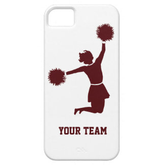 Cheerleader Silhouette Red On iPhone 5 iPhone 5 Case