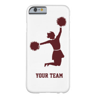 Cheerleader Silhouette Red On iPhone 6 case Barely There iPhone 6 Case