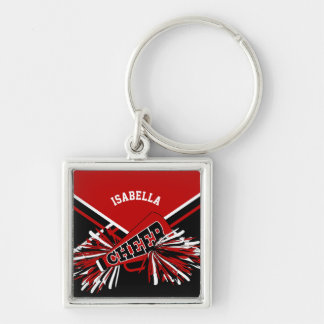 Cheerleader Spirit - Dark Red, Black and White 2 Keychain