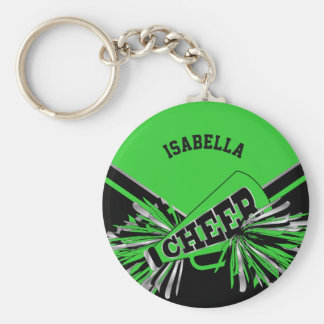 Cheerleader Spirit - Green, Silver and Black Keychain