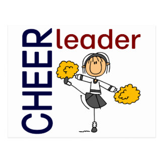 Cheerleader Stick Figure Postcard