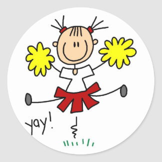 Cheerleader Stick Figure Sticker