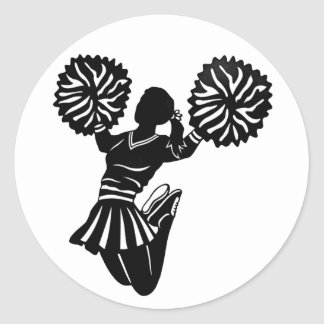 Cheerleader stickers