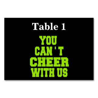 Cheerleader Table Cards