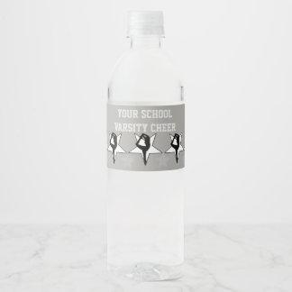 Cheerleader water bottle labels