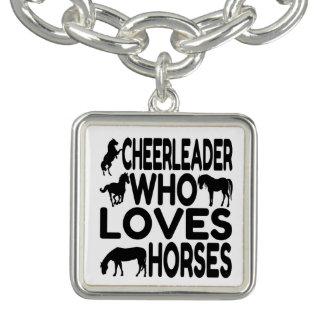 Cheerleader Who Loves Horses Bracelet