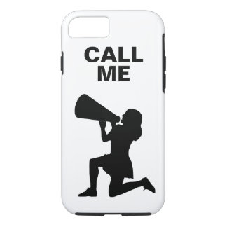 Cheerleader with megaphone iPhone 7 case