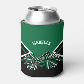 Cheerleaders - Dark Green, Black and White Can Cooler