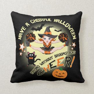 Cheerleader's Halloween Throw Pillow