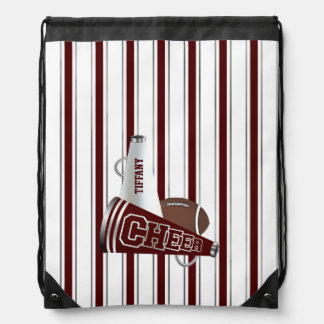 Cheerleader's Megaphone Custom Drawstring Backpack
