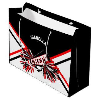 Cheerleaders - Red, Black, White - Large Large Gift Bag