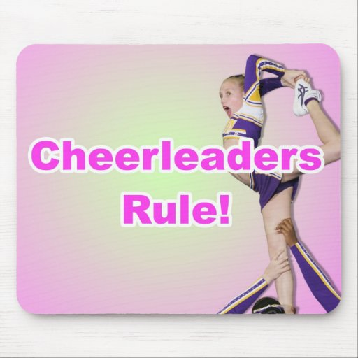 Cheerleaders Rule Mouse Mats