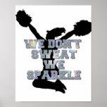 Cheerleaders we sparkle poster