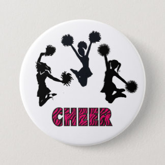 CHEERLEADING 3 INCH ROUND BUTTON