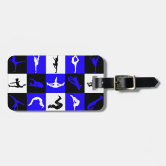 Cheerleading Block Luggage Tag in Blue