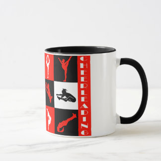 Cheerleading Block Mug in Red