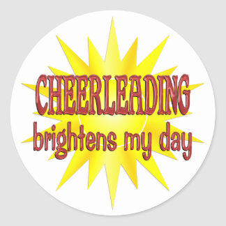 Cheerleading Brightens My Day Classic Round Sticker