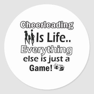 Cheerleading gift items classic round sticker