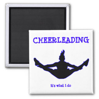 Cheerleading: it's what i do toe-touch key chain magnet
