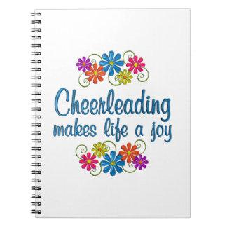 Cheerleading Joy Spiral Note Book