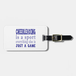 CHEERLEADING JUST A GAME LUGGAGE TAG