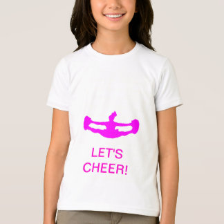 "CHEERLEADING ""LET'S CHEER!"" Girl's Ring T-Shirt"