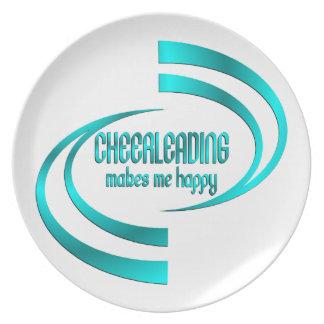 Cheerleading Makes Me Happy Plate