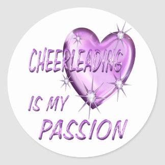CHEERLEADING PASSION CLASSIC ROUND STICKER