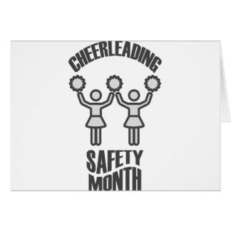 Cheerleading Safety Month - Appreciation Day Card