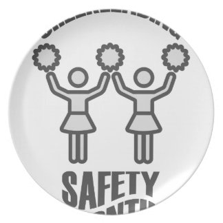 Cheerleading Safety Month - Appreciation Day Plate