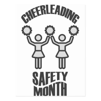 Cheerleading Safety Month - Appreciation Day Postcard