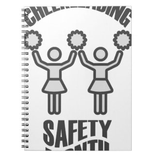 Cheerleading Safety Month - Appreciation Day Spiral Notebook
