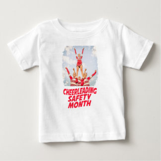 Cheerleading Safety Month - March Baby T-Shirt