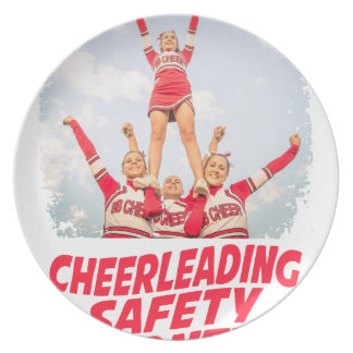 Cheerleading Safety Month - March Plate