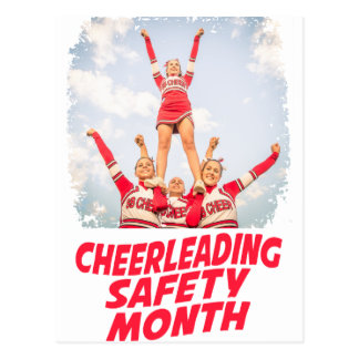 Cheerleading Safety Month - March Postcard
