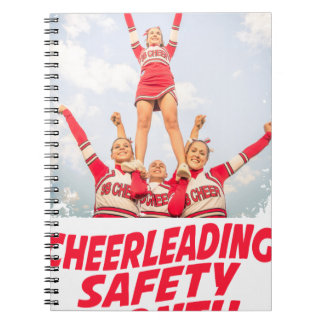 Cheerleading Safety Month - March Spiral Notebook