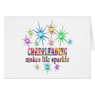 Cheerleading Sparkles Card