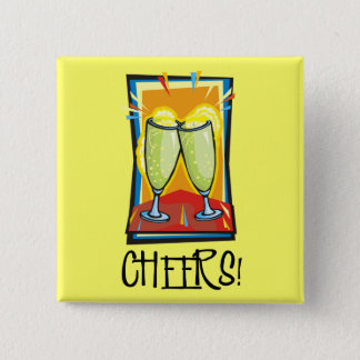 Cheers! 2 Inch Square Button