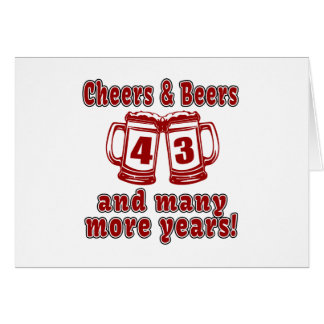 Cheers And Beers 43 Years Card