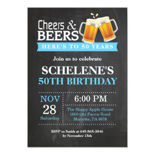 50th birthday invitations announcements zazzle ca cheers and beers 50th birthday invitation card filmwisefo