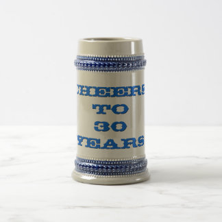 Cheers Anniversary Age Work Years Beer Stein Mug