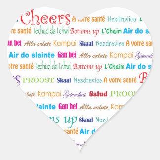 Cheers Around The World_heart-shaped Heart Sticker