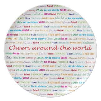 Cheers_Around The World_multi-language Plate