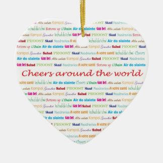 Cheers_Around The World necklace keepsake Ceramic Ornament
